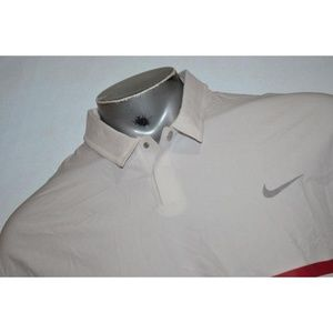 4716 Mens Tiger Woods Nike Golf Polo Shirt Size